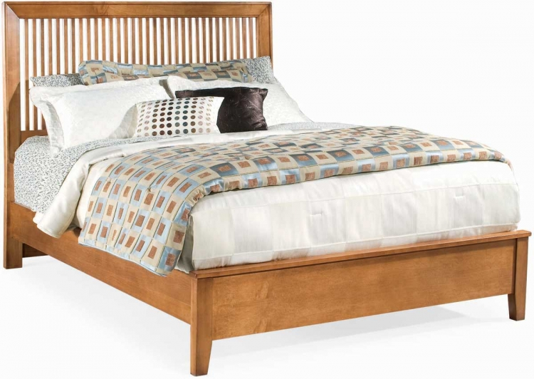 Sterling Pointe Slat Bed Maple