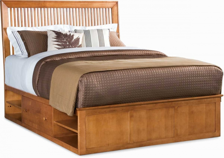 Sterling Pointe Underbed Storage Platform Bed Maple