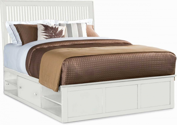 Sterling Pointe Underbed Storage Platform Bed White