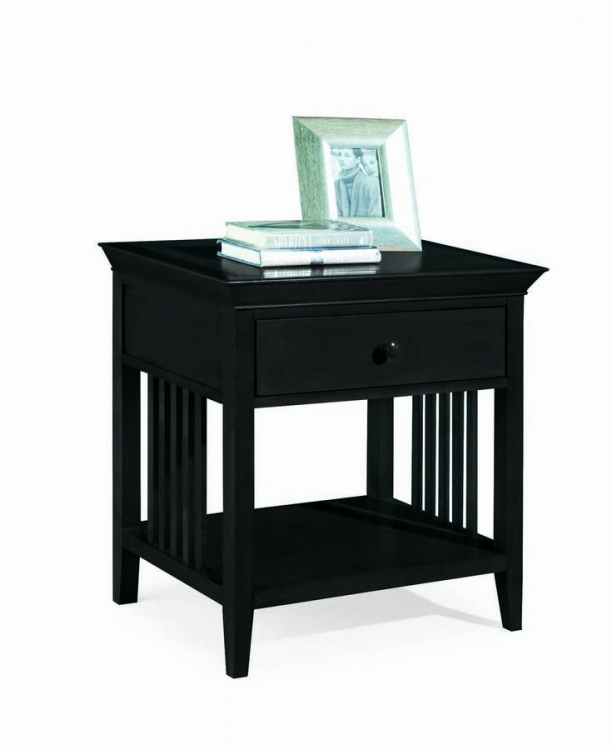 Sterling Pointe Drawer Night Stand Black