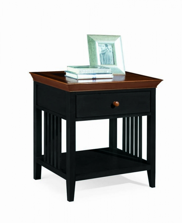 Sterling Pointe Drawer Night Stand Black Cherry