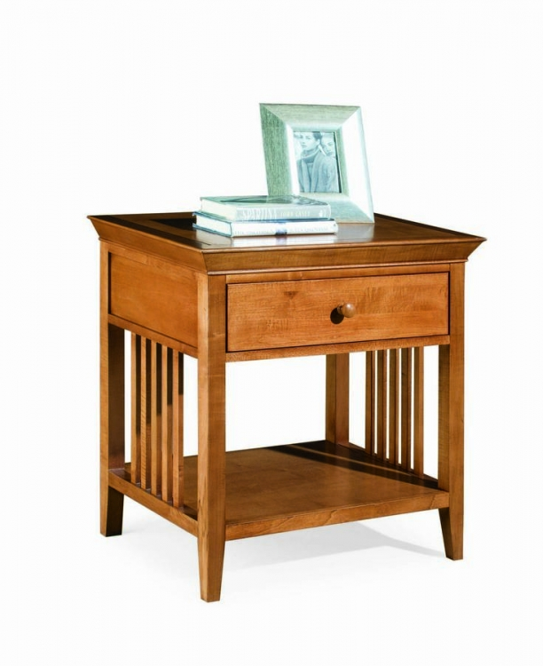 Sterling Pointe Drawer Night Stand Maple