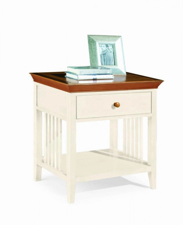 Sterling Pointe Drawer Night Stand White Maple