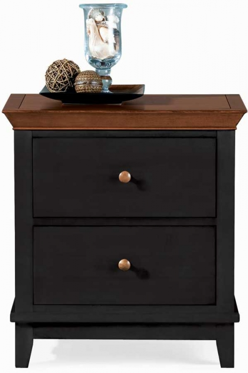 Sterling Pointe 2 Drawer Night Stand Black Cherry