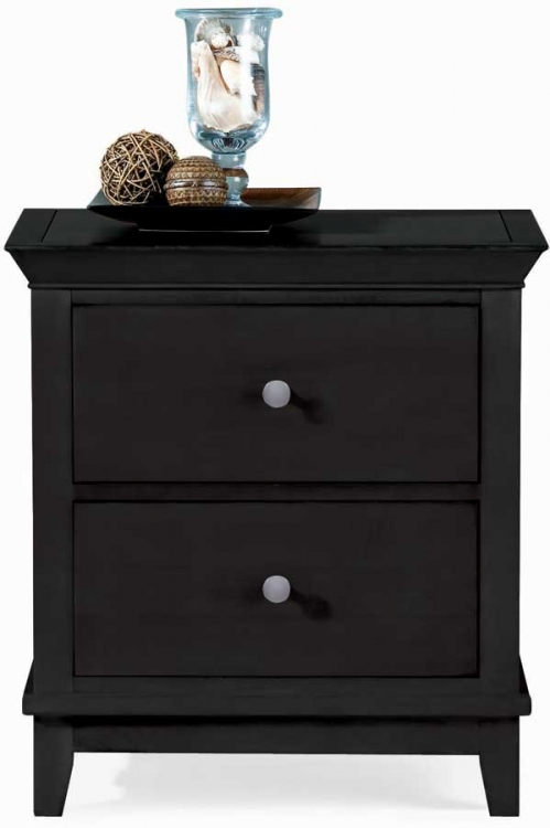 Sterling Pointe 2 Drawer Night Stand Black