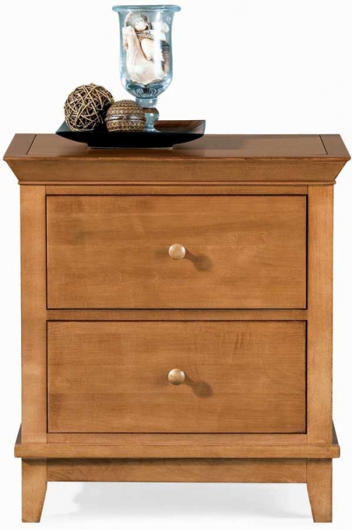 Sterling Pointe 2 Drawer Night Stand Maple