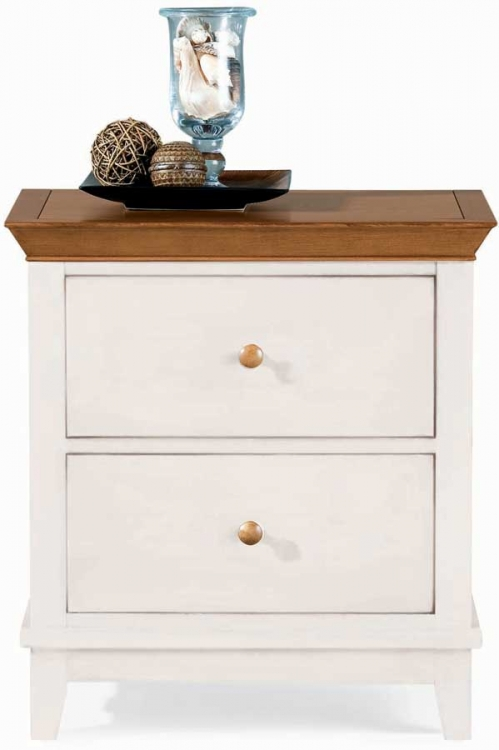 Sterling Pointe 2 Drawer Night Stand White Maple