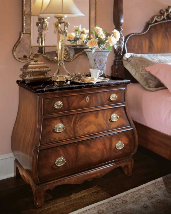 American Drew Edinboro Nightstand with Marble Top
