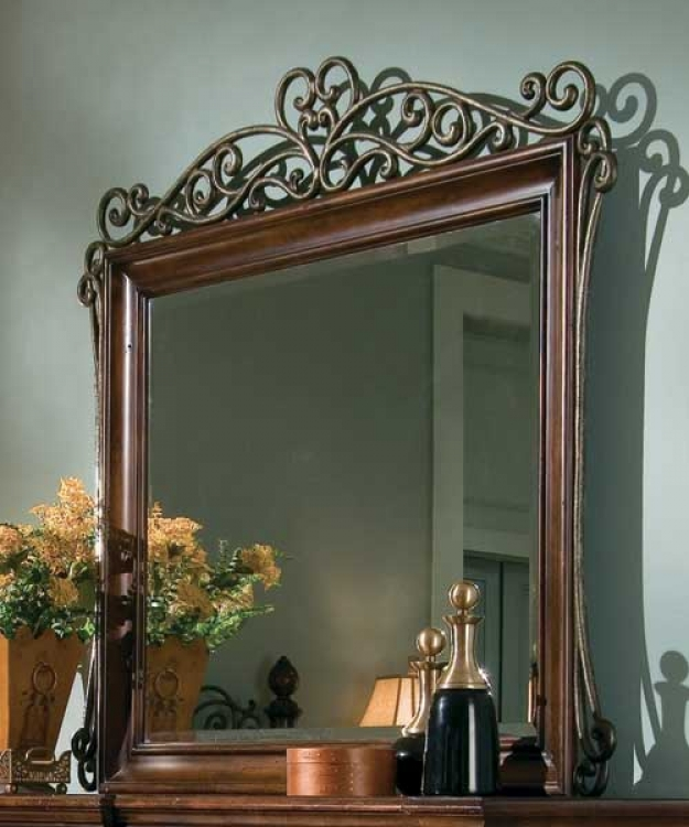Marbella Landscape Mirror with Metal Accent
