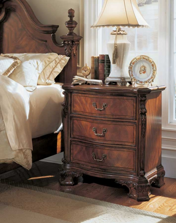 Wentworth Manor Night Stand with Wood Top