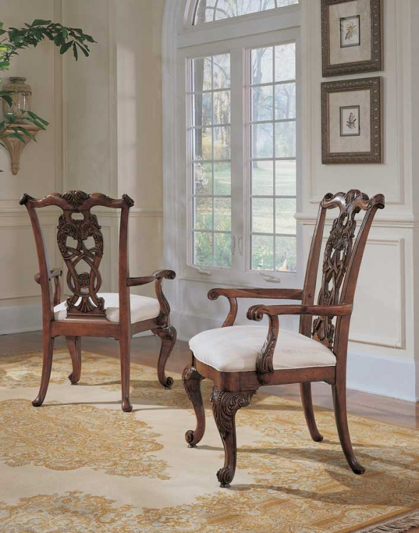 Wentworth Manor Pierced Back Arm Chair