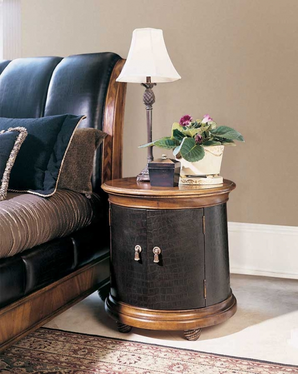 Bob Mackie Home Classics Round Leather Commode