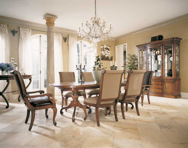 Bob Mackie Home Classics Double Pedestal Table