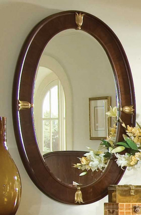 Bob Mackie Home Signature Oval Wood Mirror
