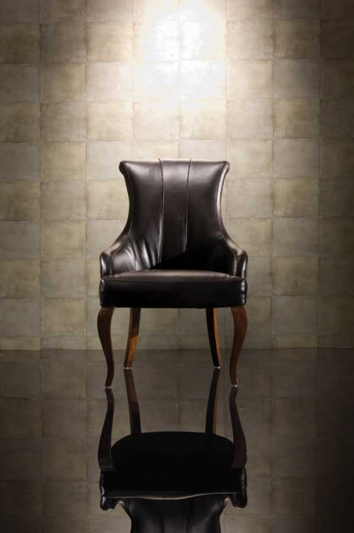 Bob Mackie Home-Signature Leather Uph-Arm Chair