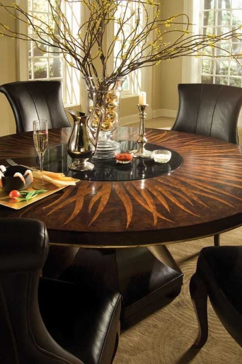 Bob Mackie Home-Signature Feather Round Table 60 Inches