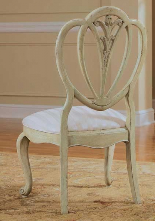 Jessica McClintock-Home Shield Back Side Chair Pistachio Finish