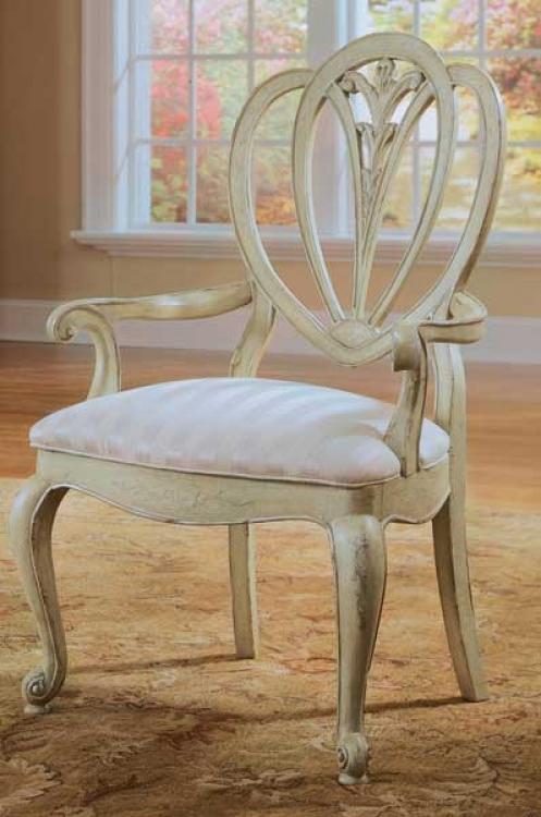 American Drew Jessica McClintock-Home Shield Back Arm Chair Pistachio Finish