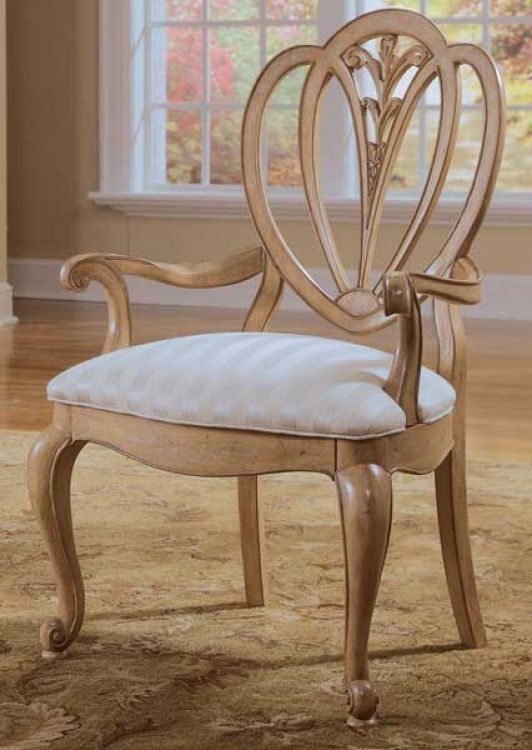 American Drew Jessica McClintock-Home Shield Back Arm Chair