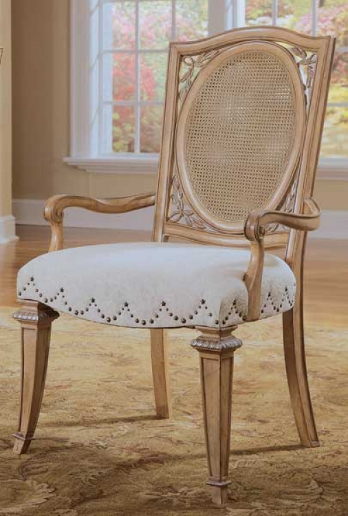 Jessica McClintock-Home Accent Arm Chair Woven Cane