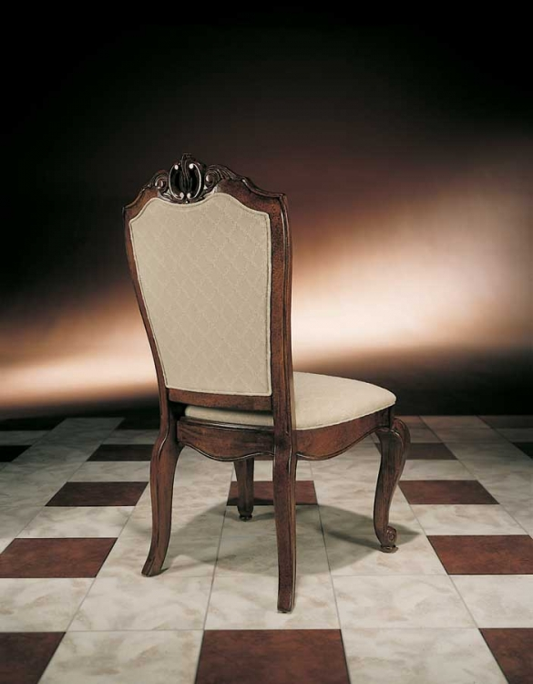 American Drew Bob Mackie Home Upholstered Back Side Chair