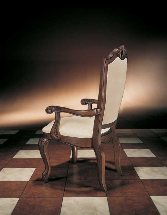 Bob Mackie Home Upholstered Back Arm Chair