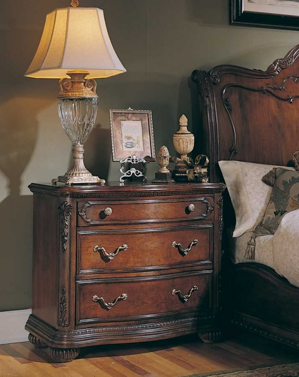 Jessica McClintock Home Romance Night Stand with Wood Top