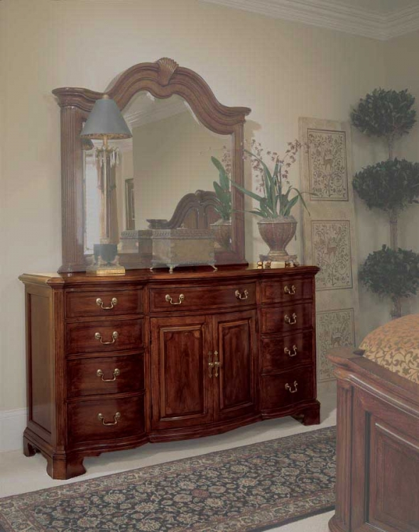Cherry Grove Door Triple Dresser