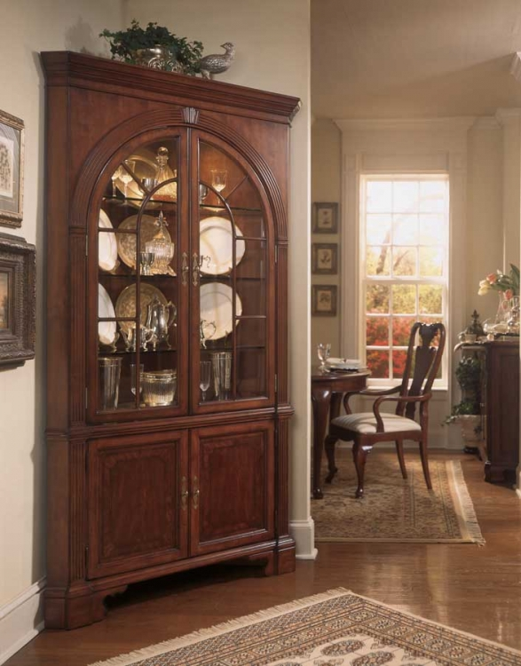 Cherry Grove Corner China Cabinet