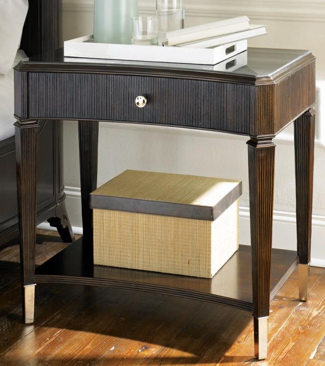 Sonata Open Leg Night Stand Wood Top