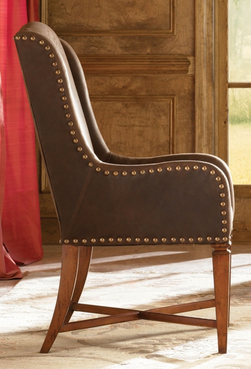 European Traditions Leather Arm Chair