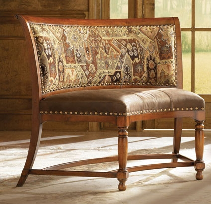 American Drew European Traditions Curved Bench