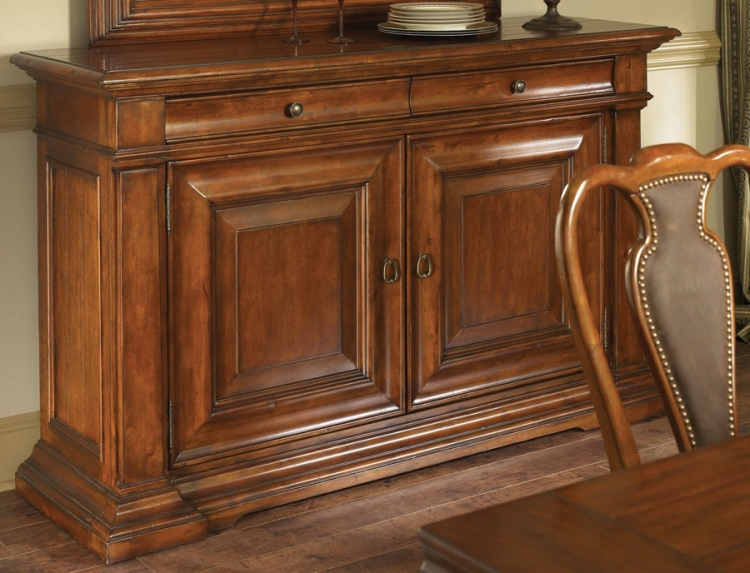 European Traditions Credenza with Wood Top