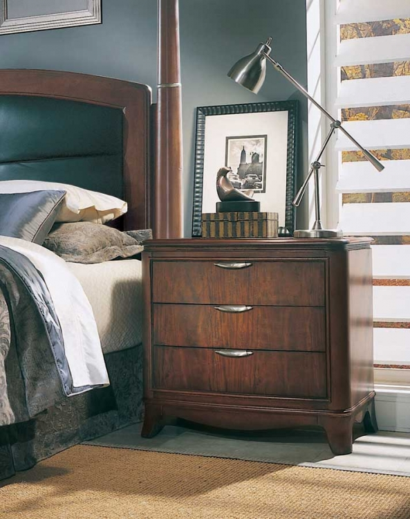 American Drew Advocate Night Stand with Wood Top