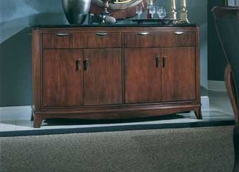 American Drew Advocate Credenza with Granite Top