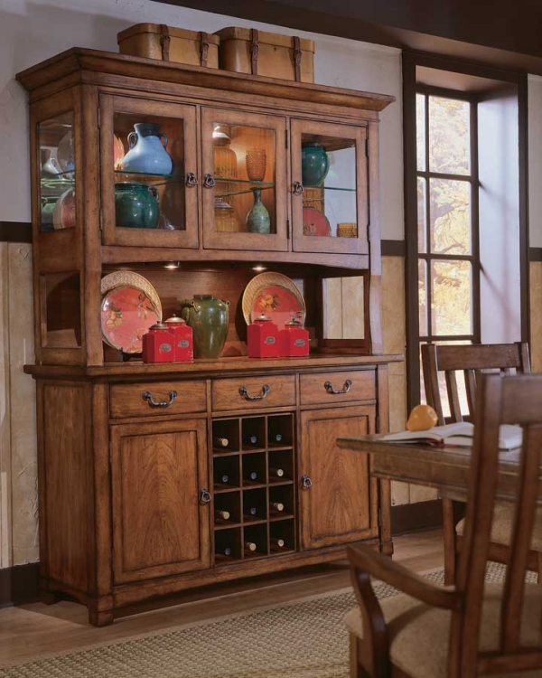 Beacon Ridge China Buffet Credenza and Deck