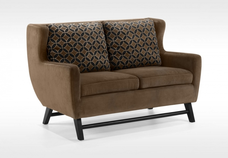 Midtown Loveseat Rich Brown Fabric - Armen Living