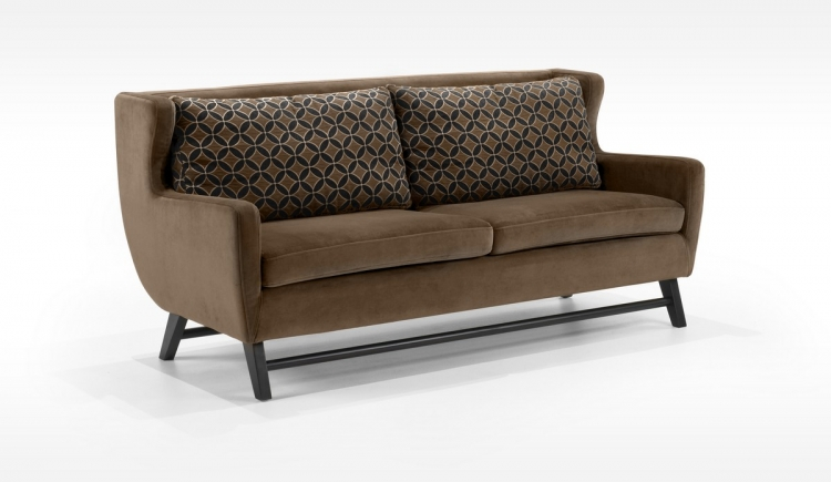 Midtown Sofa Rich Brown Fabric - Armen Living