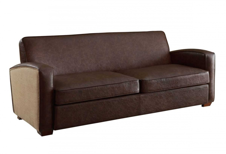 Antique Brown Sofa Set - Armen Living