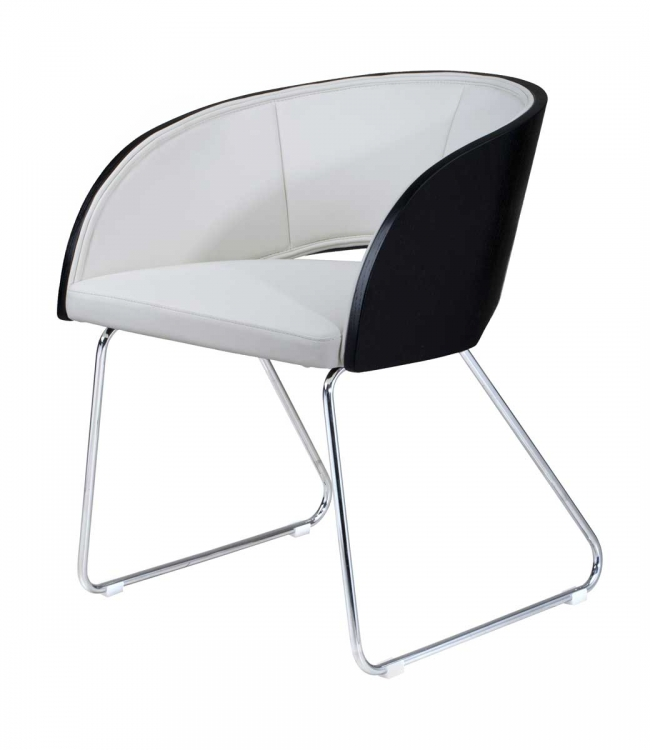 Delta Modern Club Chair - Black - Armen Living