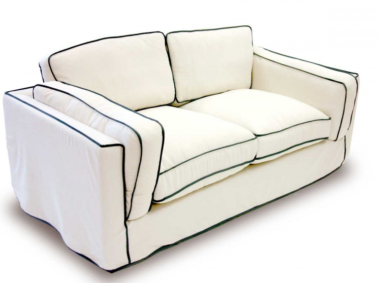 South Beach Loveseat - Cream Slipcover - Armen Living