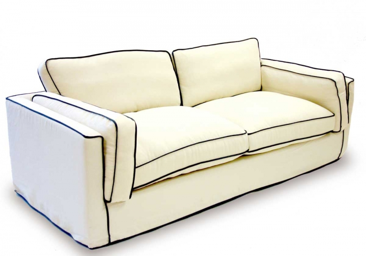South Beach Sofa - Cream Slipcover - Armen Living