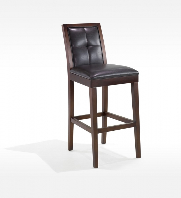 Verona 30in Vinyl - Wood Stationary Barstool - Armen Living
