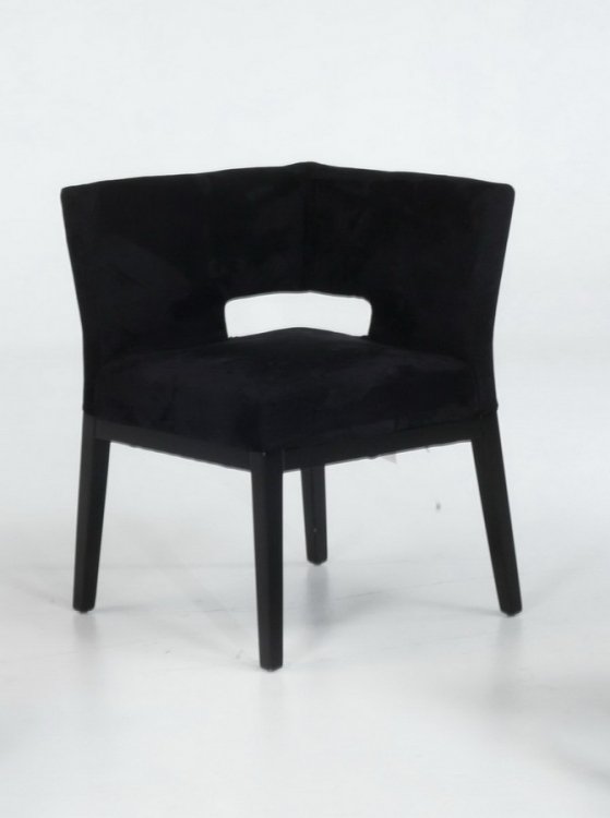 Micro Fiber Corner Chair - Black - Armen Living