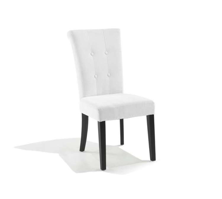 Tuxford Tufted Off White Fabric Side Chair