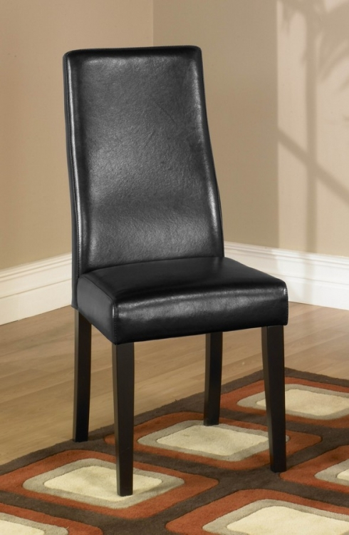 Black Leather Side Chair - Armen Living