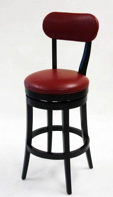 Roxy 26 Inch Swivel Barstool - Red Bicast Leather