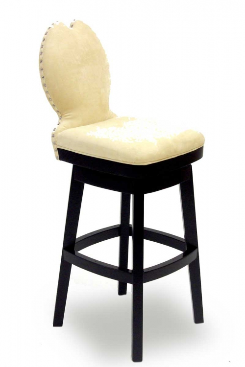 Ava 26 Inch Swivel Barstool - Cream Fabric