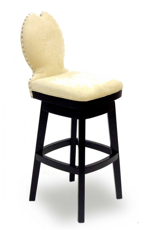 Ava 30 Inch Swivel Barstool - Cream Fabric - Armen Living