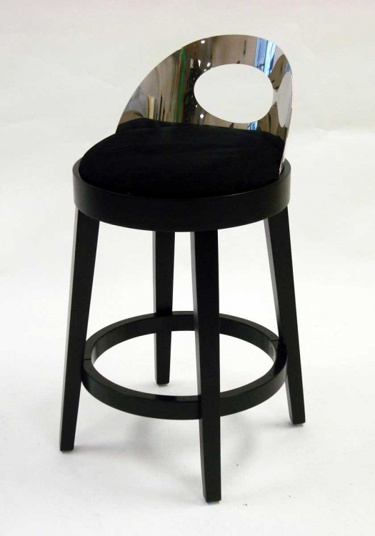 Vista 26 Inch Stationary Barstool - Black